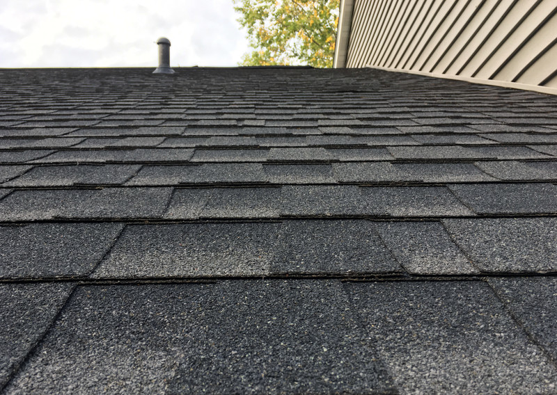 older shingles on a roof