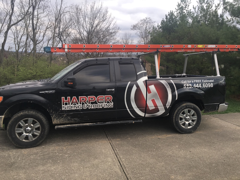 harper siding and roofing truck